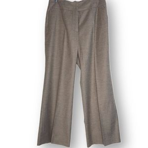 Escada wool dress pants size 10 taupe heather